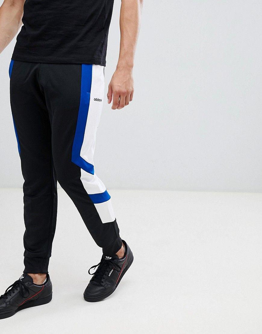 b393d7b9c2c3 Shop Adidas Originals Eqt Block Joggers In Black Dh5225 - Black ...