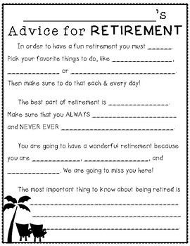 Fun A {retirement Retirement Teacher For Parties Activity Retirement Advice Ret… Advice Party Dave's Book}
