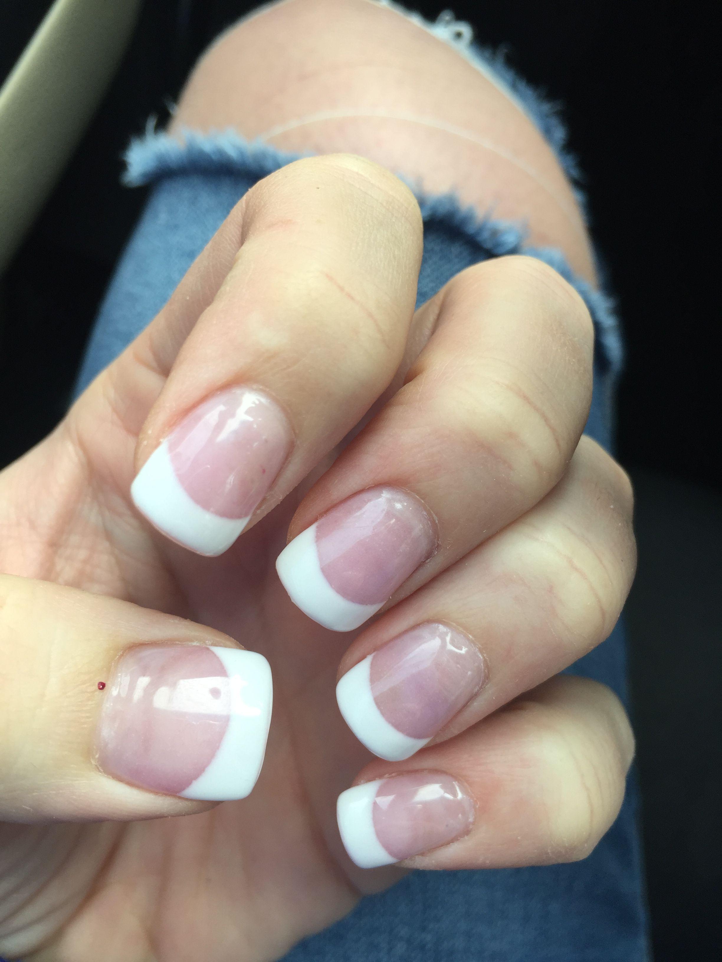 French manicure Flared nails Nail art Nails | Nailed it! | Pinterest ...