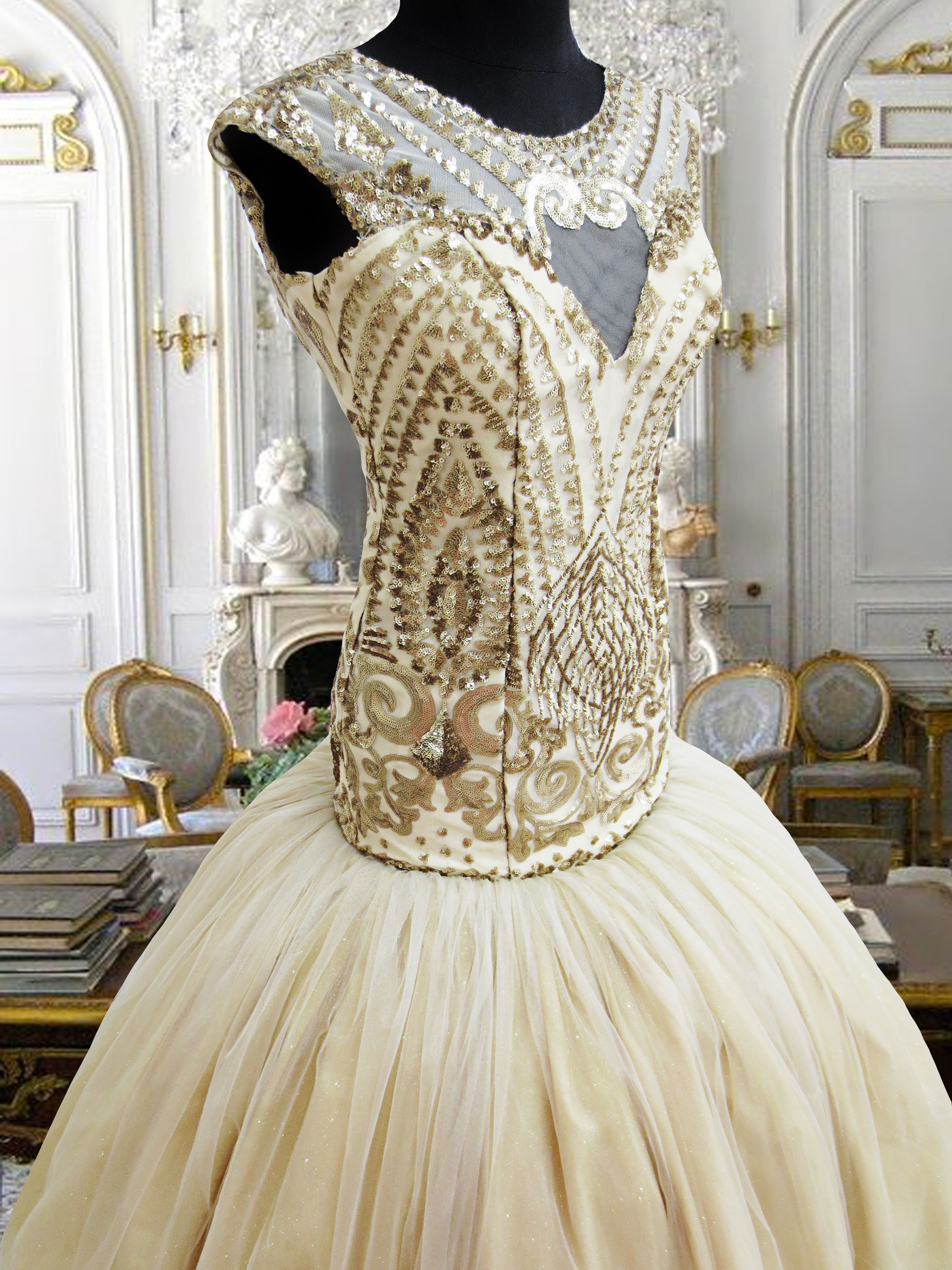 Gold Gown For Rent Php2000 Wwwgownforentcom Debut Flores De