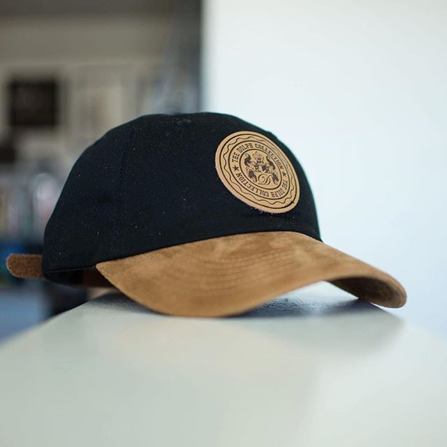 c75bf50a4c6 Custom Black Cotton Twill and Suede Dad Caps for  thedolphcollection !  Branding Options Include  Front Debossed Leather Patch with Black Ink