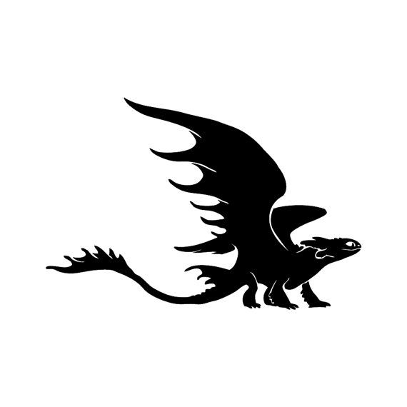 Vinyl Decal Toothless 2 From How To Train Your Dragon