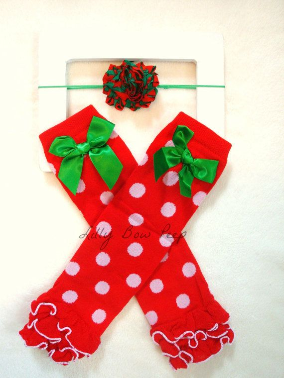 Christmas In July Ladies Outfits.Christmas In July Leg Warmers With Matching Shabby Flower