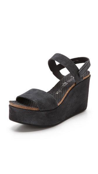 7ebca22a97ab9a Pedro Garcia Dulce Wedge Sandals Sapatos
