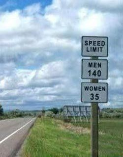 Yeah! That's about right. Funny Road Signs