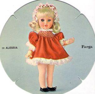 ALESSIA, 38CM, ANNEES 70, FURGA catalogo dolly do
