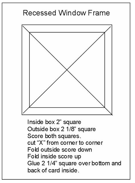 Template1 Jpg 472 X 640 100 Card Made With This Template Http Craftingtheweb Blogspot Ca 2009 02 Recessed Card Making Templates Window Cards Templates