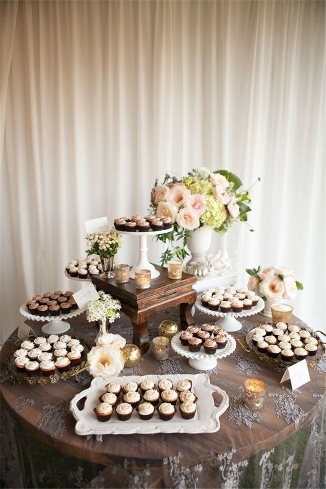 25 Inpressive Small Wedding Cupcakes With Big Styles Wedding Dessert Table Wedding Desserts Wedding Cake Table