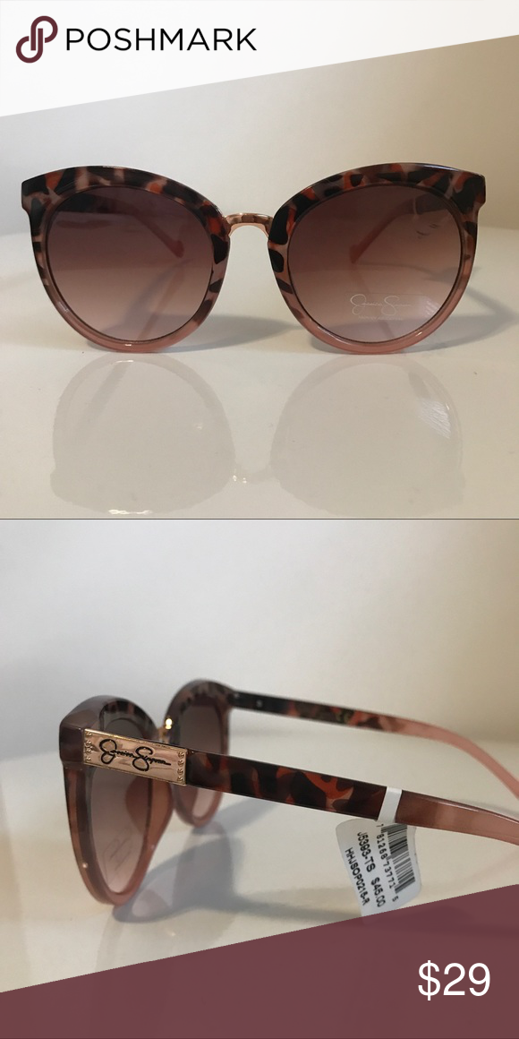 b433d7a3d96c4 Jessica Simpson Sunglasses Tortoiseshell and pink sunglasses with a rose  gold nose bridge accent. Jessica Simpson Accessories Sunglasses