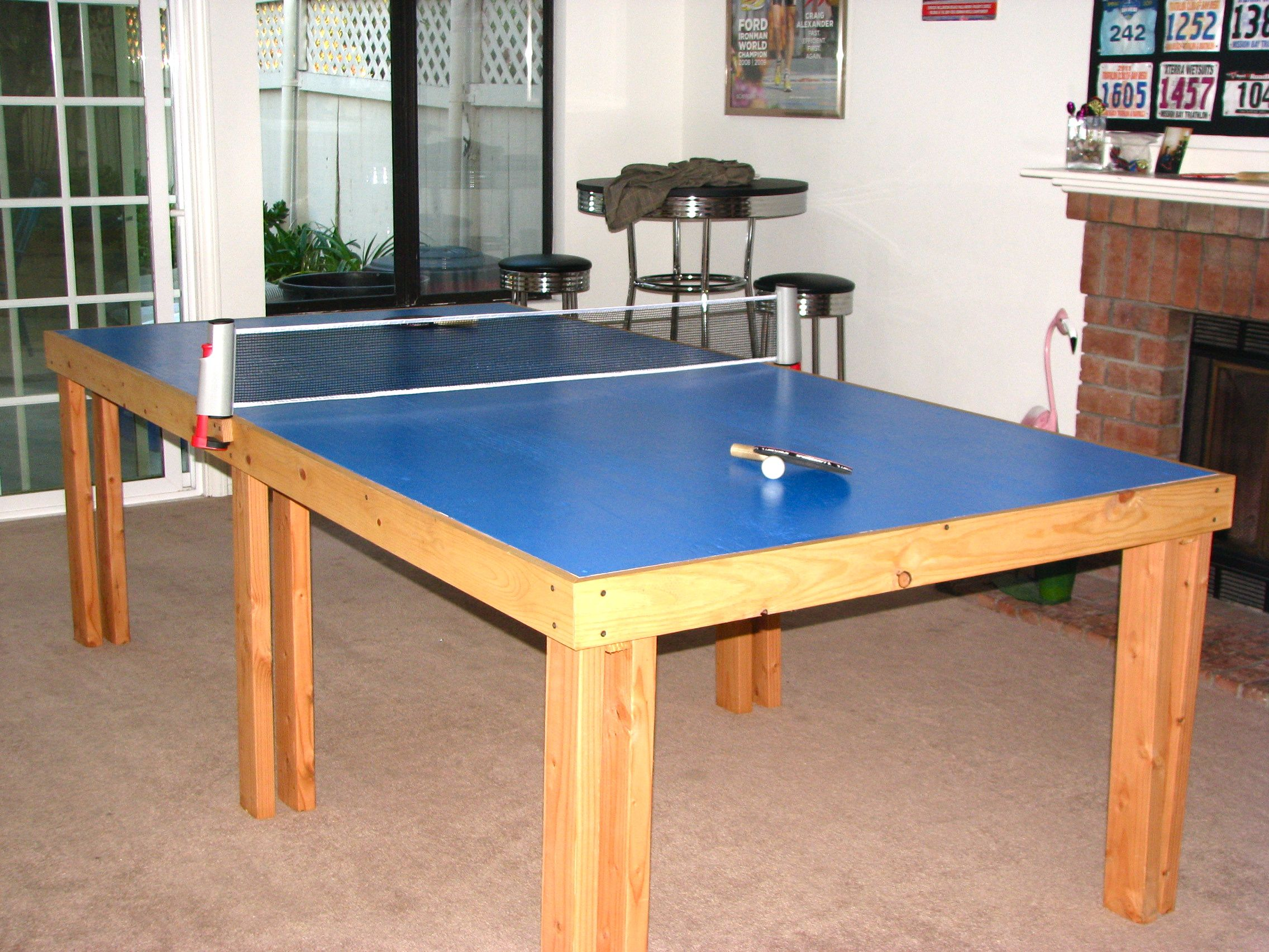 Our Homemade Ping Pong Table. Spent Less Than 120 For All The Supplies And