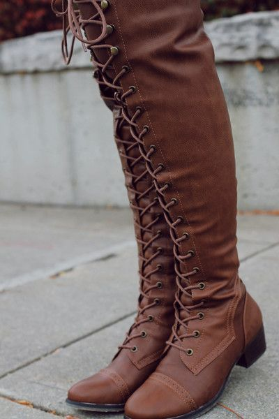 Tan Lace Up Tall Riding Boots alabama-12 – UOIOnline.com: Women's ...