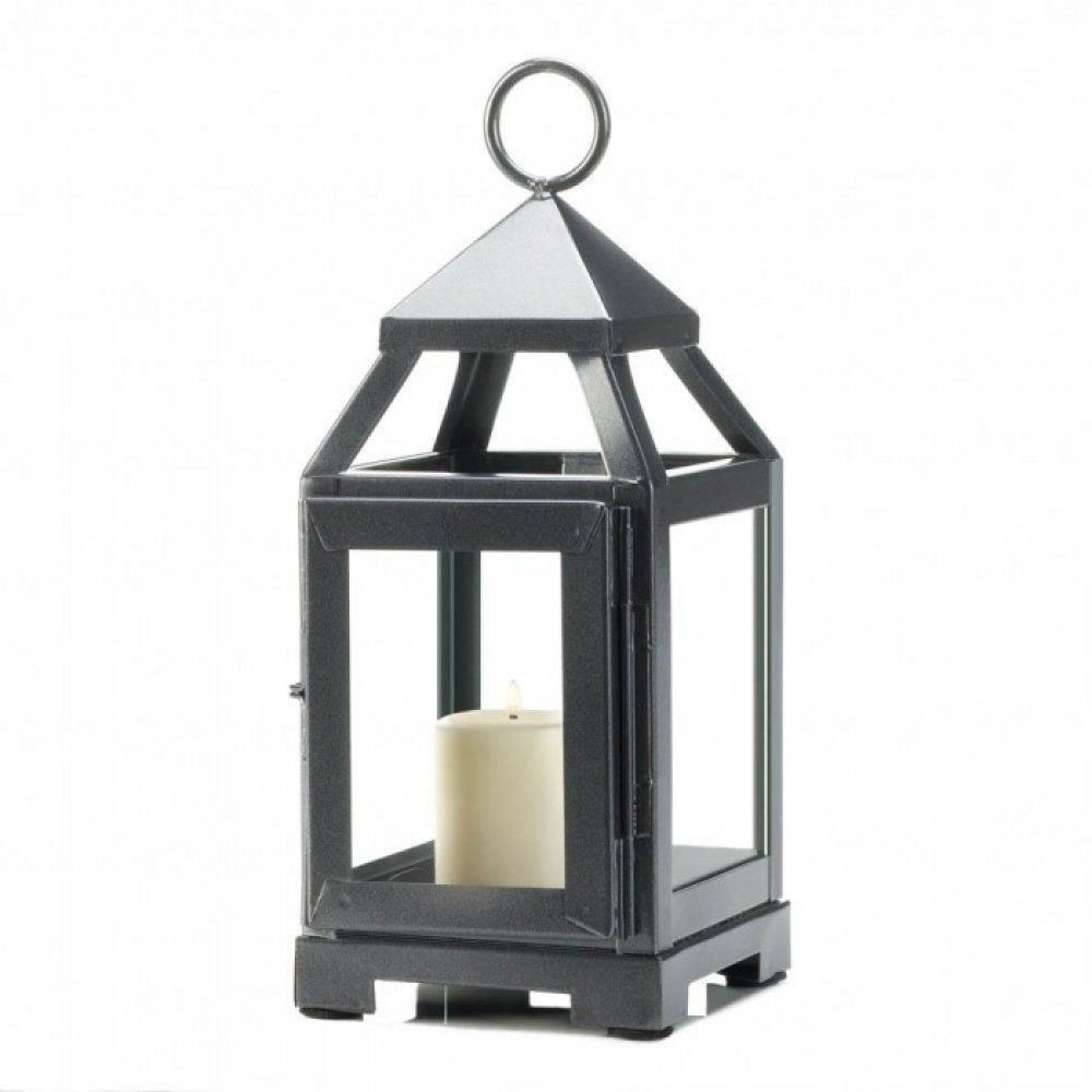 Silver Mini Contemporary Lantern Sleek Silver And Shining Bright This Little Lantern Packs Contemporary Lanterns Glass Candle Lantern Metal Candle Lanterns