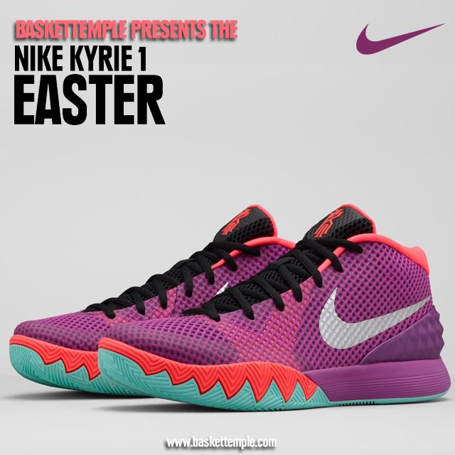 Kyrie irving Easter Kyrie Irving combines his new-age speed with the  old-school flair to his game. Purple, a classic Easter color, is featured  on the KYRIE ...