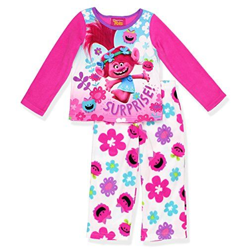 Dreamworks Trolls Toddler Girls Nightgown /& Matching Doll Gown NWT  Size  2T