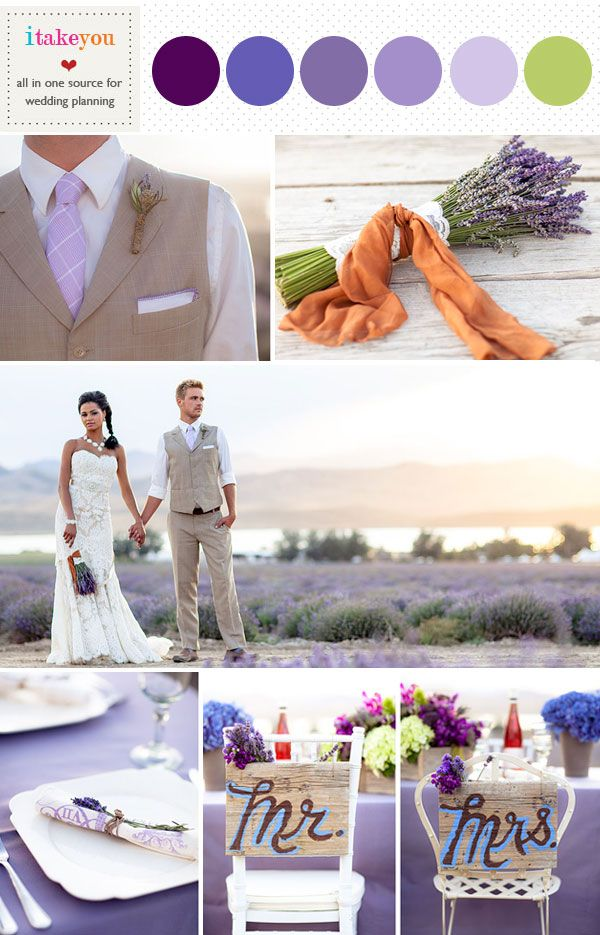 Lavender Wedding Color PaletteSpring Colors