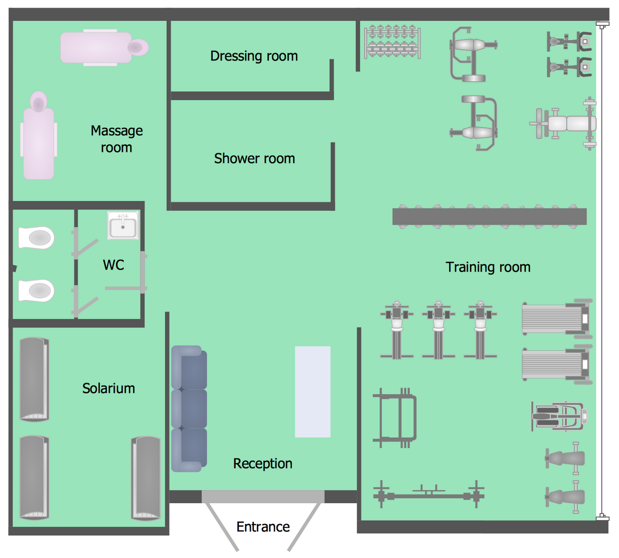Gym Floor Plan Example Floor Plans Gym Plans Floor Plan Layout