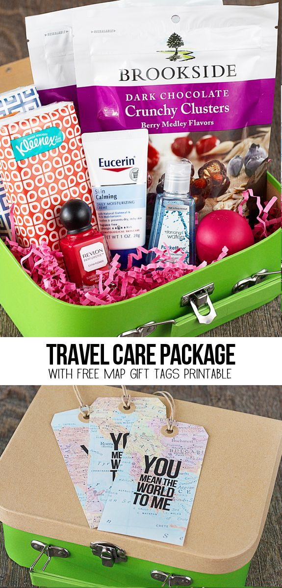 A sweet travel themed care package with free map gift tags that say a sweet travel themed care package with free map gift tags that say you gumiabroncs Image collections