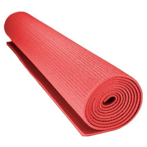 1 8 Inch 3mm Compact Yoga Mat With No Slip Texture Red Yoga Foam Roller Mat Exercises