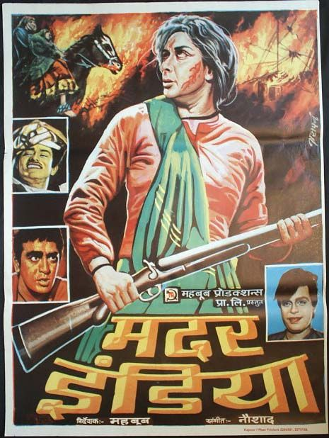Mother India 1957 Movie Poster Art Bollywood Posters Animal Wall Art