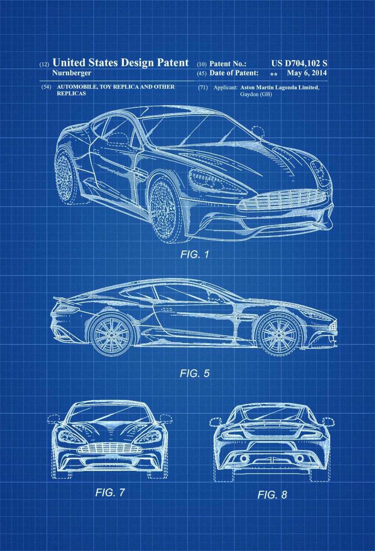 Aston Martin Patent - Patent Print, Wall Decor, Automobile Decor ...