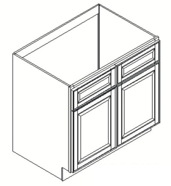 Best Forevermark Uptown White Sink Base Cabinet 42W X 34 1 2H 640 x 480