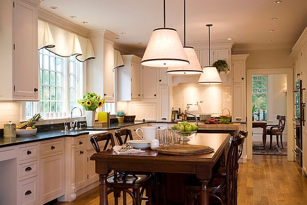 The Window Treatment And Light Fixtures Really Compliment This Already  Great Kitchen Look.