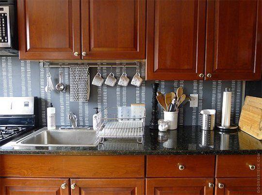 15 Ideas for Removable, DIY Kitchen Backsplashes ...