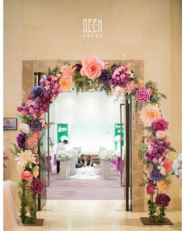 Floral Arch Backdrop Weddingplanner Weddingstyle Weddingdecor