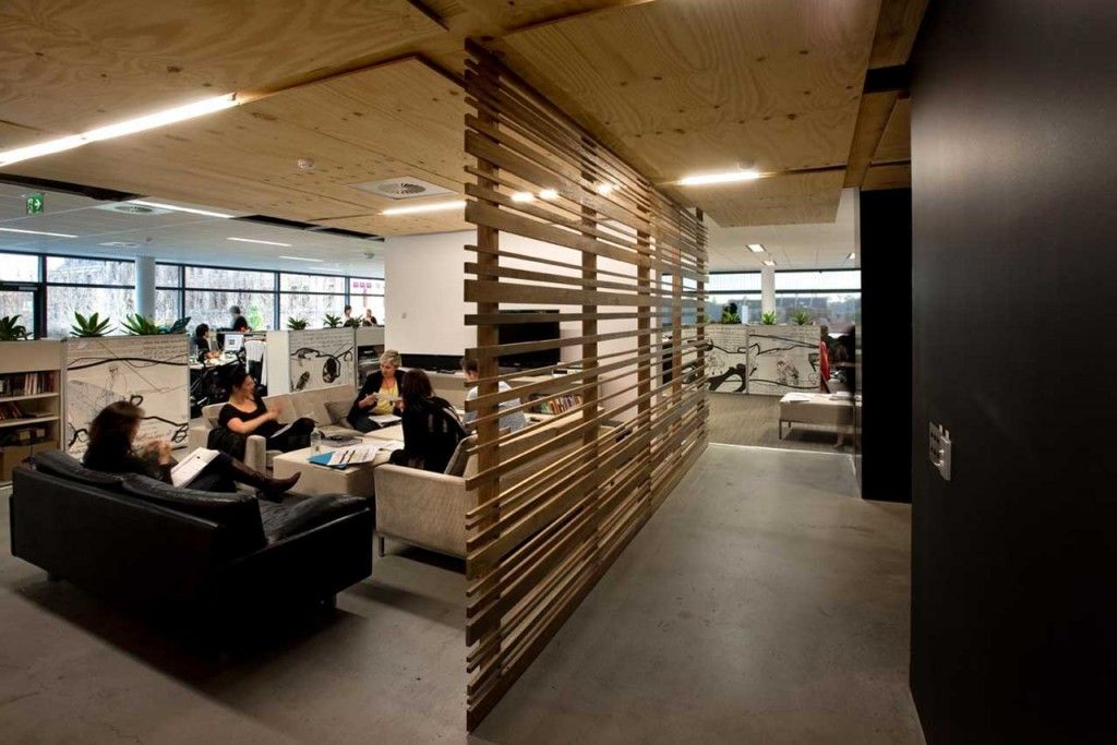 Industrial interior design office google search for Commercial office space design ideas
