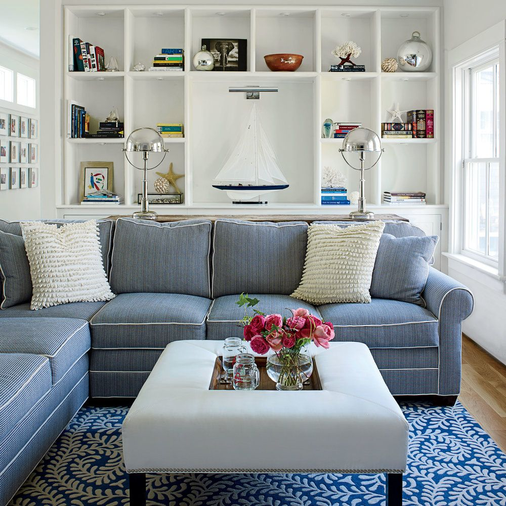 40 Living Rooms With Coastal Style Photo