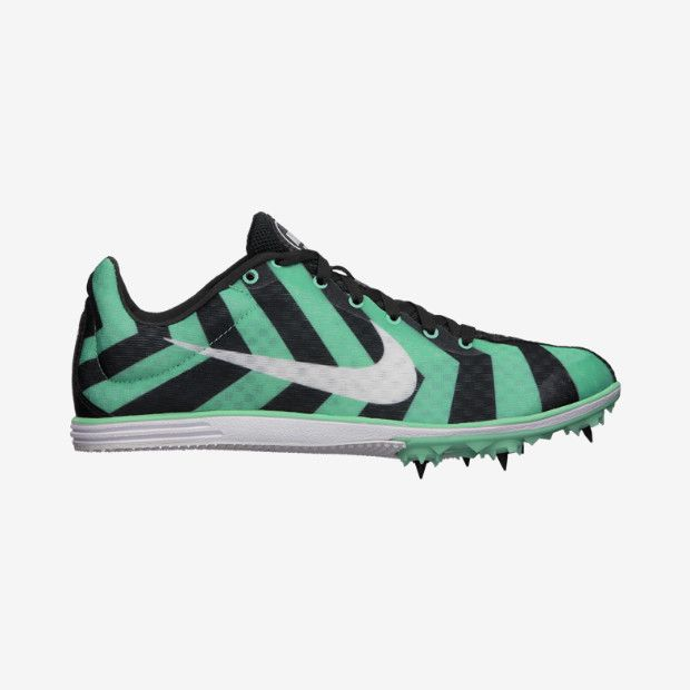 Nike Men's Zoom Rival D 8 Track and Field Shoe - Green/Pink/Volt Green/Black H50x3208