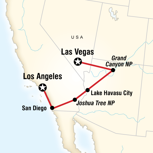 Map of the route for San go, Grand Canyon & Vegas in 2019 ... United States Map Showing Grand Canyon on angels window grand canyon, united states national monuments in the grand canyon from above, google maps grand canyon, visitors at the grand canyon, directions to the grand canyon, overlook south rim grand canyon, united states physical canyon, yavapai grand canyon, physical map of the grand canyon, phoenix arizona map grand canyon, the grand hotel at the grand canyon, 9 planning for grand canyon, map of arizona near grand canyon, united states atlantic coastal plain, map of united states with grand canyon,