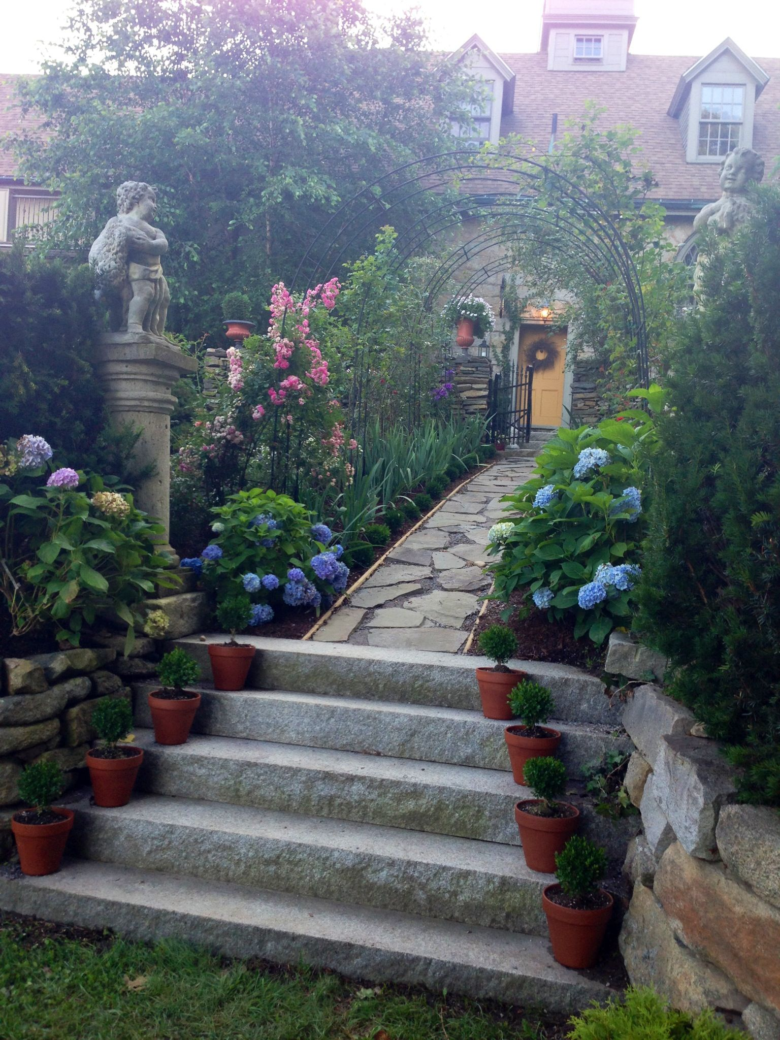 Pin By Milena Banks On Garden At Maine S Historic Stonehouse Farm Old Stone Houses Mediterranean Garden Beautiful Gardens