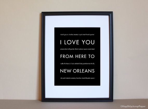 New Orleans Wall Decor new orleans art print, new orleans decor, nola gift, louisiana