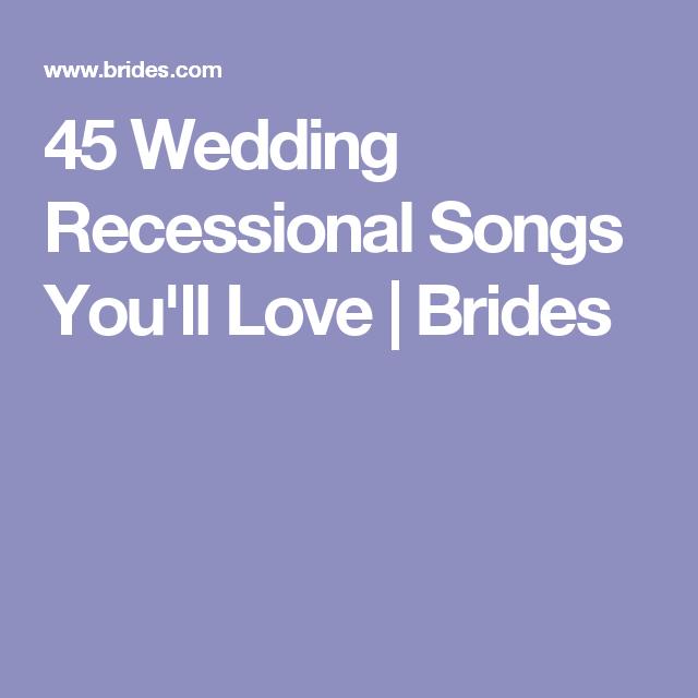 Instrumental Wedding Recessional Songs