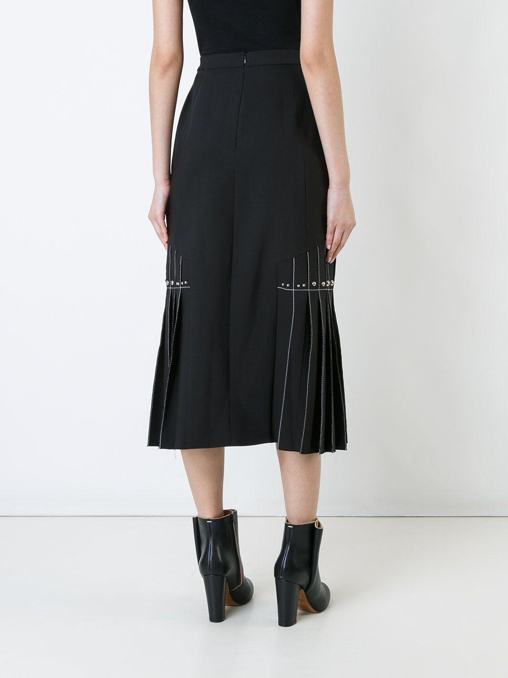 юбка со встречными складками на талии