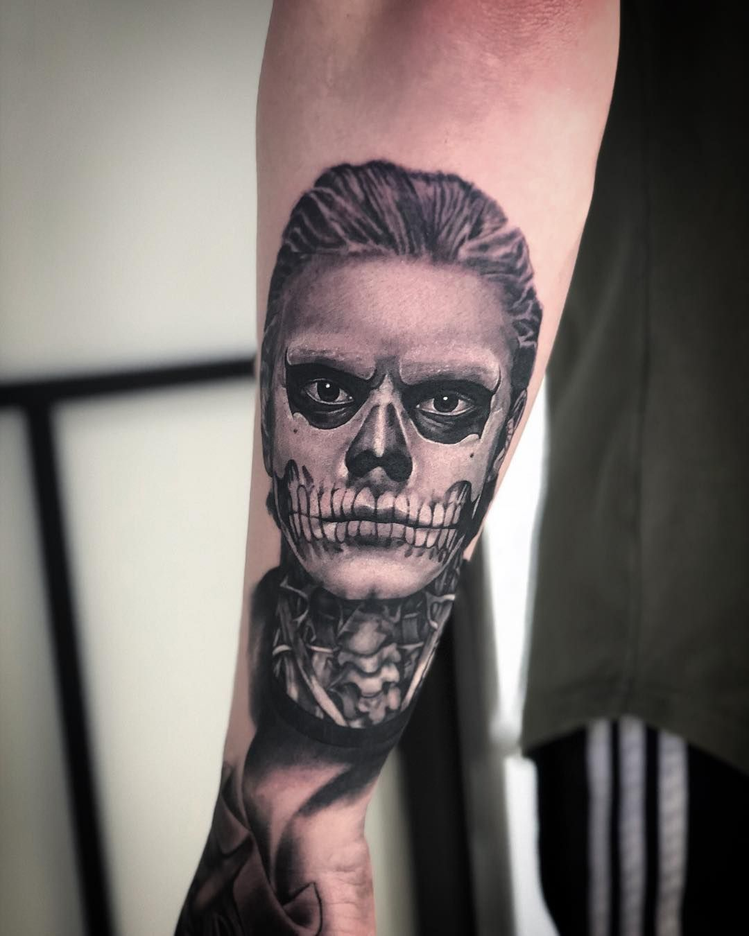 Gareth Watson On Instagram Evanpeters Tate Portrait From American Horror Story I Did Proudly Spo Story Tattoo Horror Tattoo American Horror Story Tattoo