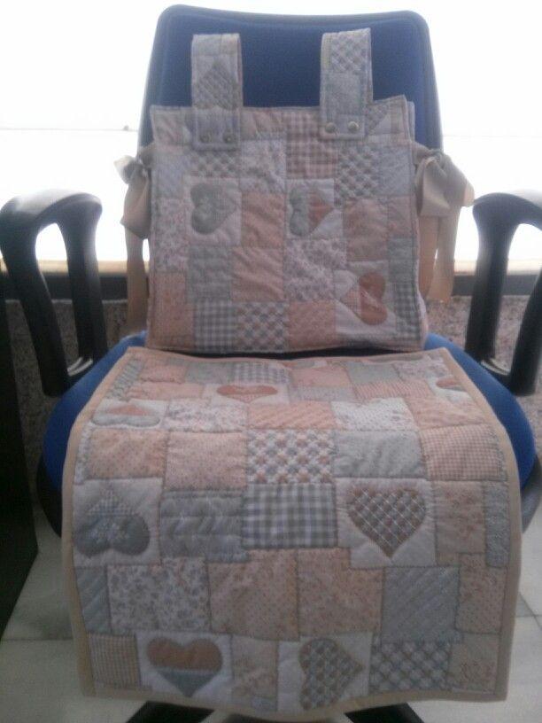 Mantita y bolso para carro de bebe