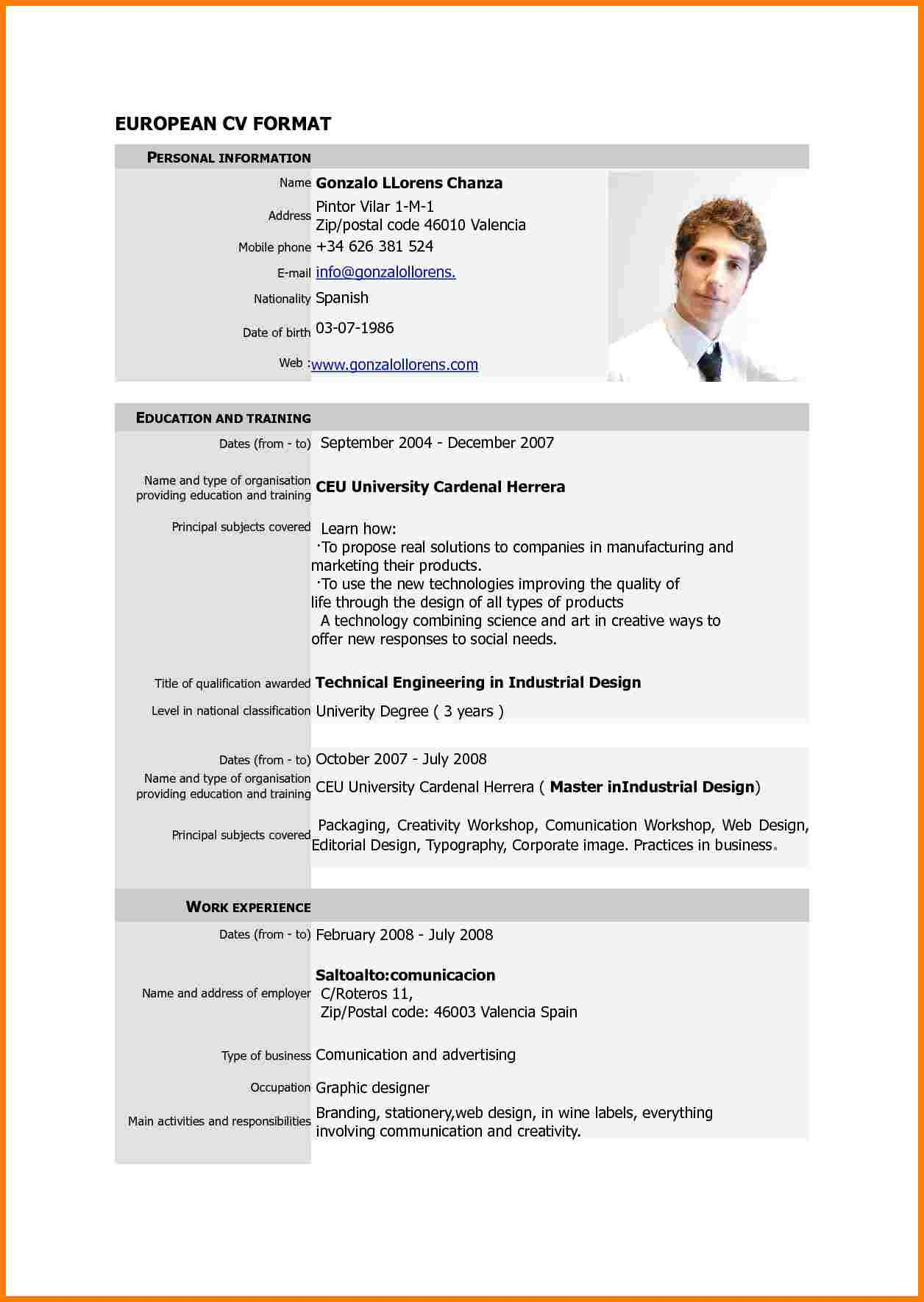 Resume Format New Cv Format Downloadable Resume Template