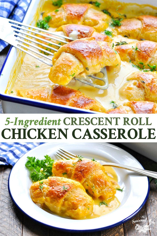 5-Ingredient Crescent Roll Chicken Casserole #chickencasseroledinners