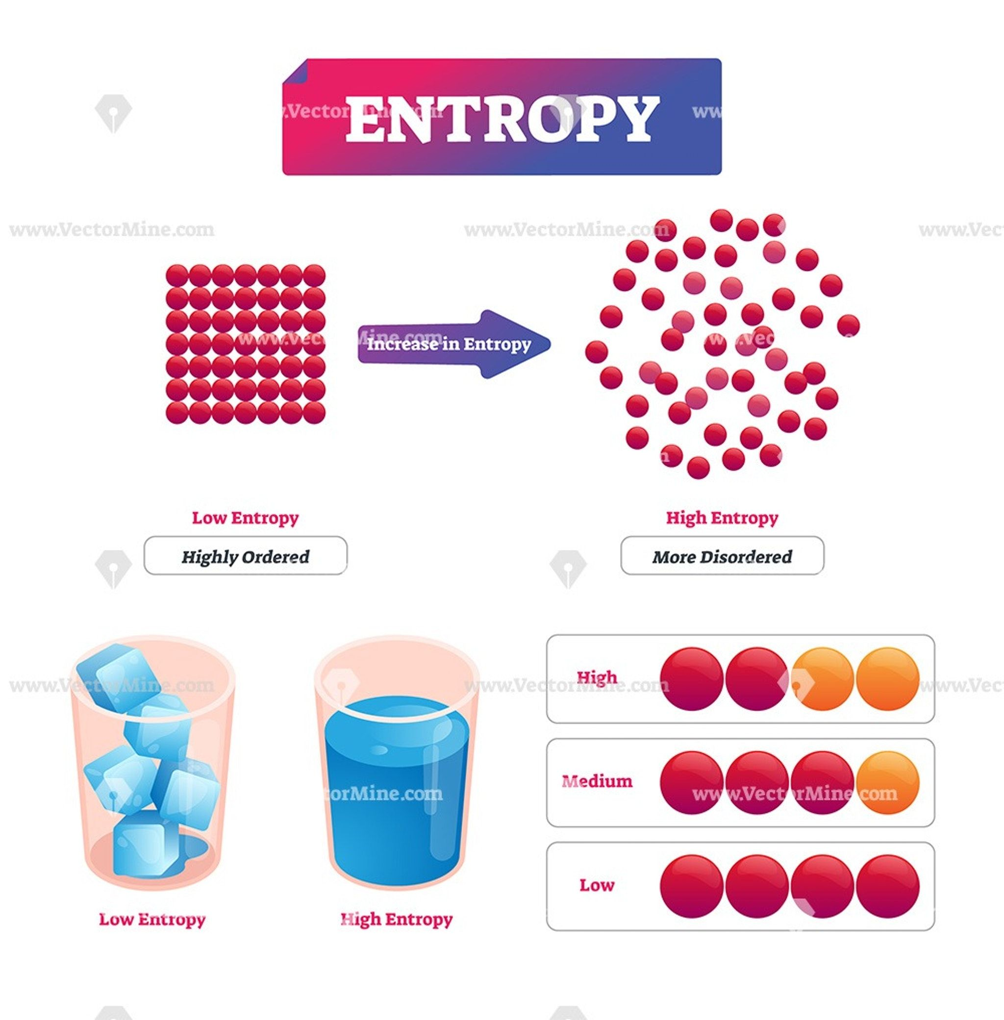 Entropy Vector Illustration Explanation Diagram