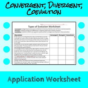 Convergent Evolution Divergent