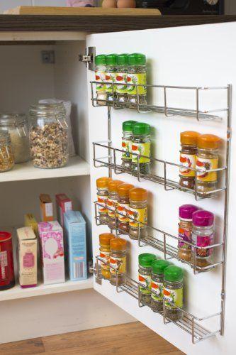 Andrew James 4 Tier Spice   Herb Rack Wall Mountable or Kitchen - gewürzregale für küchenschränke