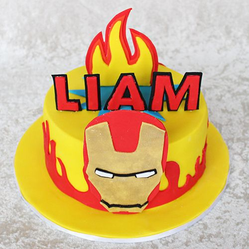 Iron Man cake by Cutie Cakes Our Cakes and goodies Pinterest