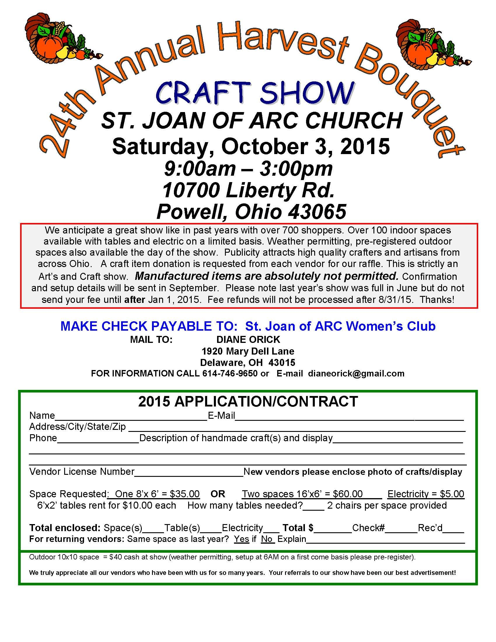 Craft Show Vendor App   Pop Up Shop    Craft