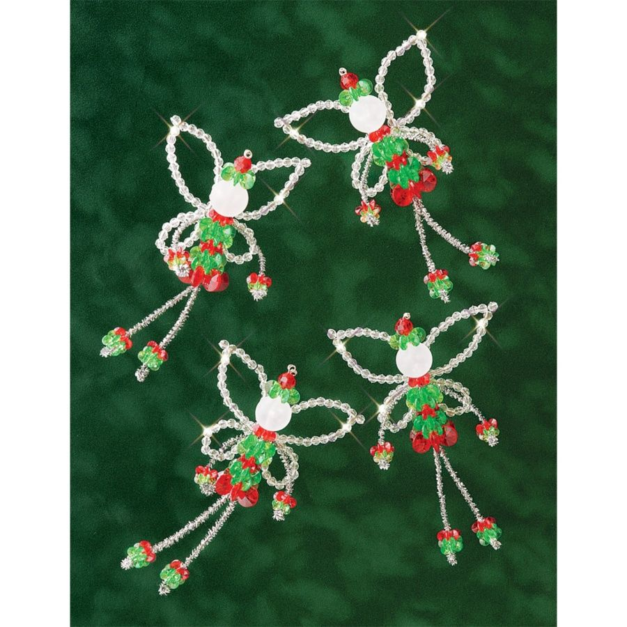 The Beadery Holiday Beaded Ornament Kit Christmas Fairies At Hsn Com Christmas Ornament Pattern Christmas Bead Beaded Christmas Ornaments