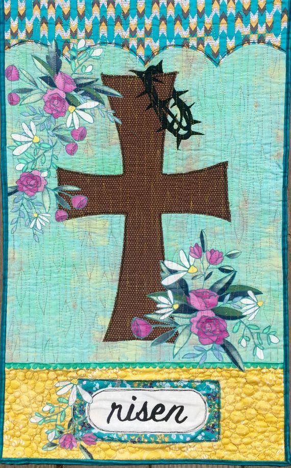 Risen art quilt pattern/Easter quilt by TallPoppyStudios on Etsy
