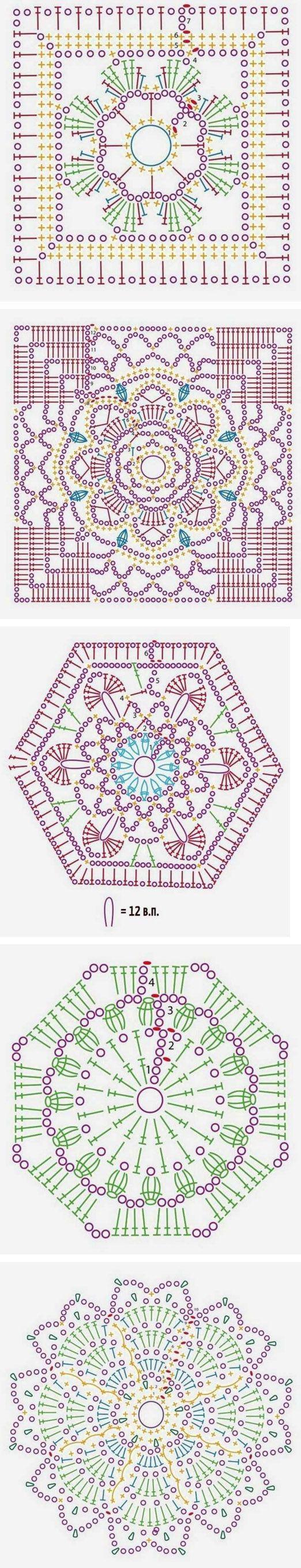 Cute crochet patterns                                                                                                           …   Crochet motif, Crochet motif patterns, Crochet #crochetmotif