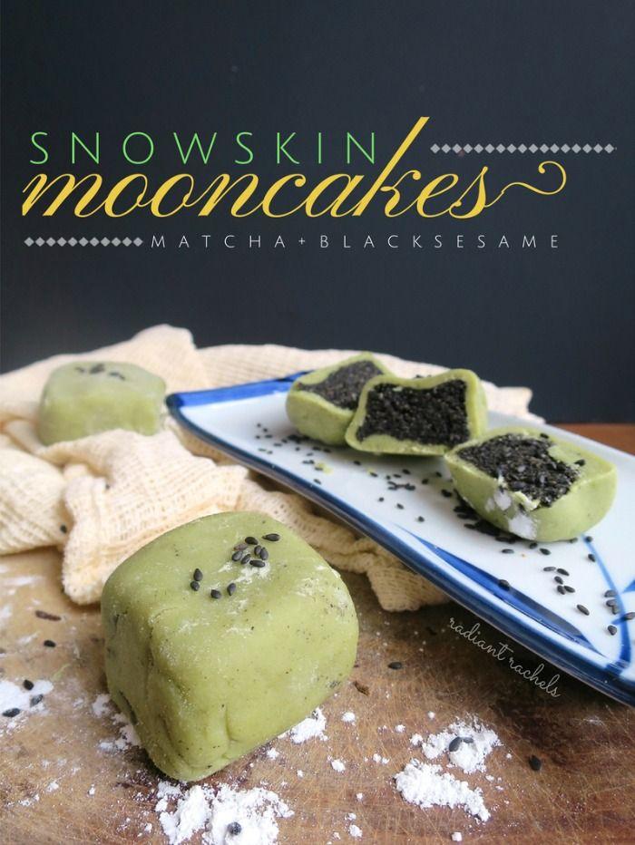Celebrate the Mid-Autumn Festival with these Matcha Snowskin Mooncakes 綠茶冰皮月餅 | http://www.radiantrachels.com/matcha-snowskin-mooncake/