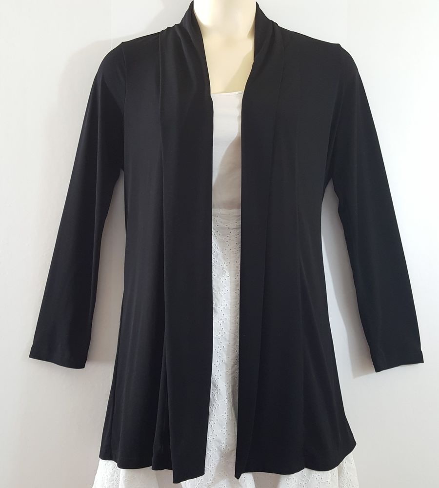 Calvin klein womens basic black open front cardigan one size ...